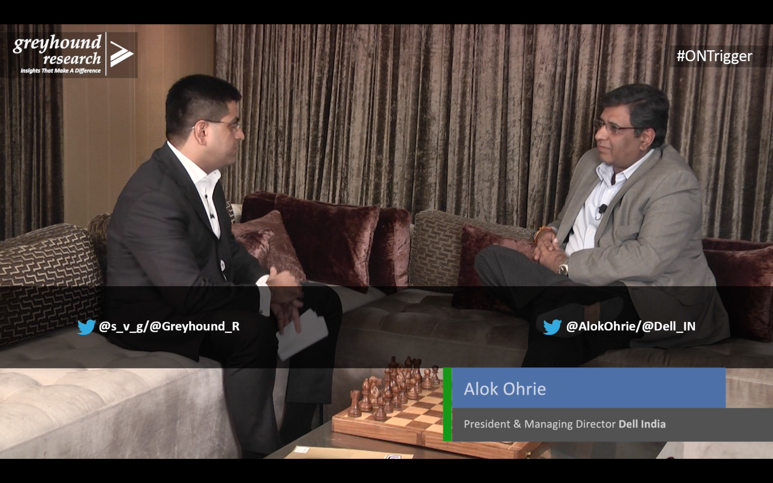 #ONTrigger: @s_v_g Chief Analyst & CEO @Greyhound_R with @AlokOhrie, President & MD, @Dell_IN